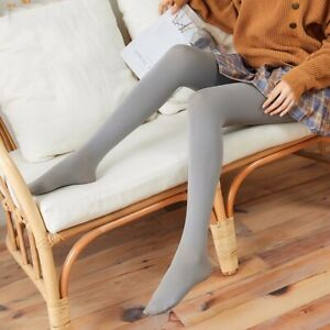 Women's Winter Warm Sexy Opaque Pantyhose Stretch Long  Tights grey