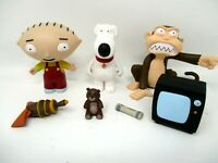 Family Guy STEWIE BRIAN EVIL MONKEY with accessories 2013 figure lot
