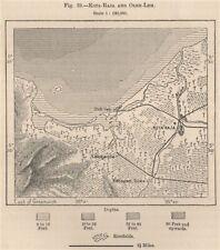 Kutaraja (Banda Aceh) & Oleelheue. Sumatra, Indonesia. East Indies 1885 map