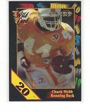 RARE 1991 WILD CARD COLLEGIATE FOOTBALL 20 STRIPE CHUCK WEBB #103 - TENNESSEE