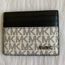 Michael Kors Cooper Logo Mens Tall ATM Card Case White & Black BNWT