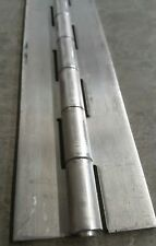 "8 inch Aluminum Piano Hinge 1""x1""x 1/8 inch thick  1/4 inch pin"