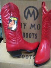 Tony Mora Womens Made in Spain Red  leather Western Boot 2472 Size 5 New