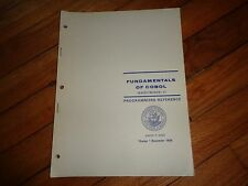Fundamentals of Cobol Navrefmanual-C Programmer's Reference 1969 Computers