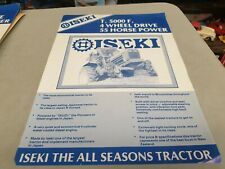 1980s ? ISEKI T5000F 4WD Tractor New Zealand  Sales Leaflet