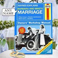 Personalised Haynes Explains Marriage Book Stocking Filler Xmas Funny Manual