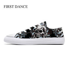 First Dance Cool Skull Printed Shoes for Men Lightweight Casual Walking Sneakers