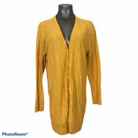 Torrid Women's Cardigan Sweater Mustard Gold Button Up V-Neck Long Sleeve Size 0