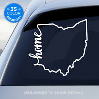 "Ohio State ""Home"" Decal - OH Home Car Vinyl Sticker - add heart over any city!"