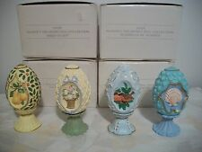 AVON SEASONS TREASURES EASTER HARTFORD PORCELAIN EGG COLLECTION OF FOUR EGGS