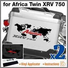 2x Adesivi Nero Rosso Grigio compatibile con Honda Africa Twin XRV 750 ADVENTURE