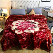 Heavy blanket Luxury thick winter blanket soft quilt bed cover Raschel blankets