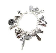Sherlock holmes inspired bracelet MorMor's Charm Bracelet silver tone bracelet