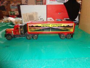 Vintage 1982 Tonka Desert Express Metal & Plastic Semi Truck Hauler