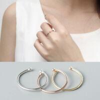Schmaler Damen Ring offen echt Sterling Silber 925  Farbe: Weißgold Rosegold
