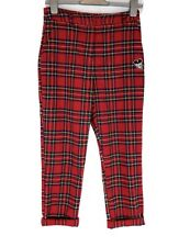 Disney Mickey Mouse Tartan Trousers Forever 21 Small 8 Indie Punk Kitsch Kawaii