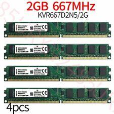 Kingston 8GB 4x 2GB KVR667D2N5/2G PC2-5300U DDR2 667Mhz 1.8V Desktop Memory RAM