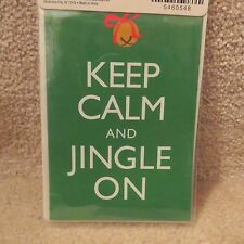 "Iron On Patch - ""Keep Calm and Jingle On"".."