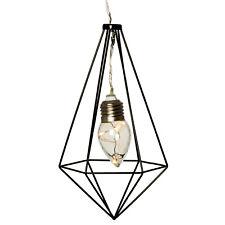 LED Diamant Dekoleuchte Hängelampe Draht Gitter Industrie Design Glühbirne Batt.