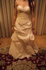 Vestito abito da sposa nuovo atelier italiano taglia 44 seta avorio mod Lucia