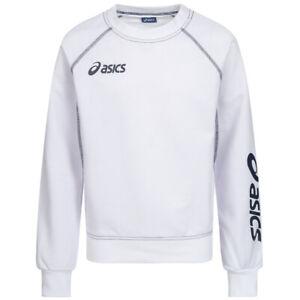 ASICS Sweat Alpha Kinder Pulli Sweatshirt Pullover 2024XZ-0150 Gr. 128 weiß neu