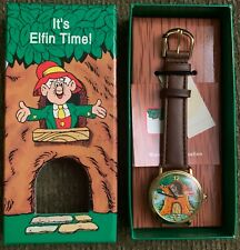 New Vintage Ernie Keebler Tree House by Fossil Wrist Watch Leather Motion Watch
