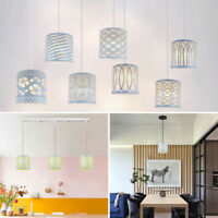 White Metal Floral Hollow Lampshade Table Ceiling Pendant Light Shade Lamp Cover