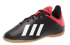 adidias X 18.4 IN J Indoor Soccer Shoes Black/White/Red BB9409 Size 6 US Big Kid