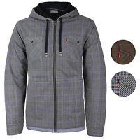 Levi's Men's Sherpa Lined Long Sleeve Flannel Zip Fleece Hoodie Sweater Jacket