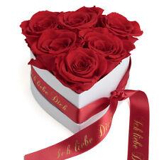 Infinity Rosenbox Rosenherz 6 konservierte Rosen Blumenbox Geschenk Valentinstag