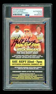 Hulk Hogan Promo PSA/DNA 3x5 Advertisement Slabbed Signed Autographed Auto