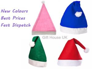 Green Blue Pink Christmas lot Festive Party  Adult Unisex Father Santa Pack of 5
