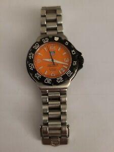 Tag Heuer WAC1213 /YS3685 Orange Formula 1 Small size Watch Unisex Silver Black