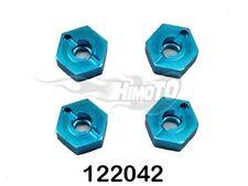 02134B TRASCINATORI DADI IN ERGAL BLU 12mm 122042 AL.WHEEL RIM LOCK HIMOTO 1:10