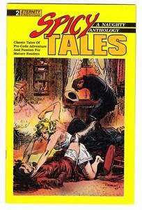 SPICY TALES #2 - 1988 Eternity Comics - pre-code pulp comic strip reprints