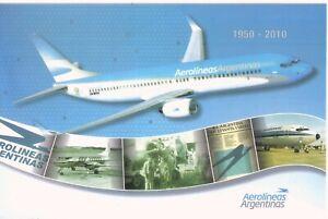 2010 ARGENTINA / POSTCARD -60 years of Aerolineas Argentinas