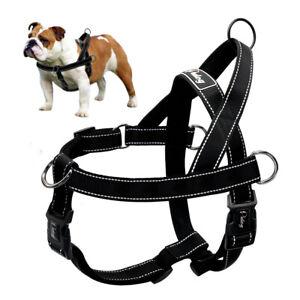 Dog Harness Large Dogs Pet No Pull Front Clip Reflective Vest Bulldog Dobermans