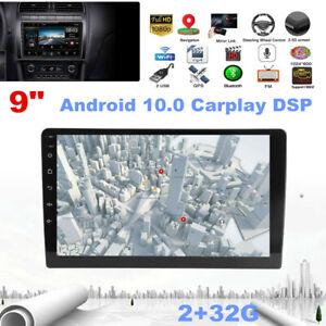 "9"" Android10.0 Radio Stereo Wifi Car MP5 Player GPS Navigation Carplay DSP 2+32G"