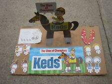 Shoe of Champions Uniroyal Sign Set Original Vintage Keds Horse Display Kit