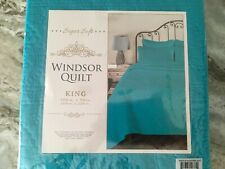 Teal Blue King Quilt New