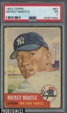 1953 Topps #82 Mickey Mantle New York Yankees HOF PSA 1
