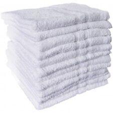 12 NEW WHITE COTTON HOTEL BATH TOWELS 20x40 ROYAL ESTATE  BRAND