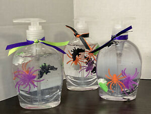 Softsoap Lot of 3 Halloween Hand Soap Spooky Holiday Crafted Fun Clear Unscented