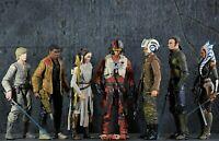 Star Wars The Black Series 6'' REBELS & FORCE AWAKENS Figure LOTX7, Loose!