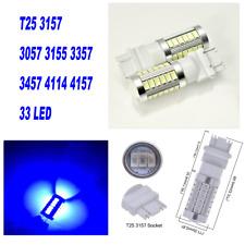 Blue Rear Turn Signal Light T25 3057 3157 4157 33 SMD LED Bulb A1 For Honda LA