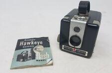 Vintage Kodak Brownie Hawkeye Camera Flash Model with Booklet