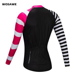 Women Cycling Jersey Lady MTB Road Bike Long Sleeve Tops Sports Shirts Quick Dry