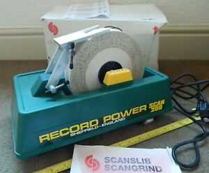 RECORD POWER SCAN 200 WET STONE GRINDER SCANGRIND 240V SCANSLIB BENCH