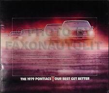 1979 Pontiac and Firebird and Trans Am Sales Catalog Brochure Original Formula