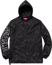 SUPREME Checkered Nylon Pullover Black Size M BRAND NEW